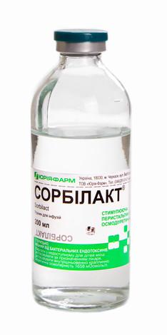 Сорбілакт Юрія-Фарм розчин для інфузій 200 мл 1 флакон