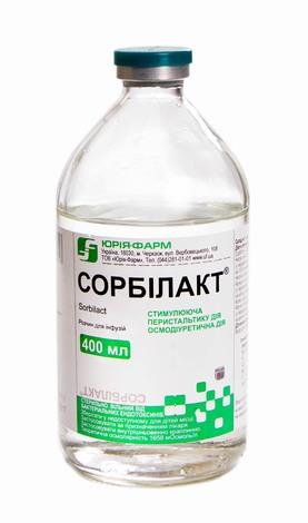 Сорбілакт Юрія-Фарм розчин для інфузій 400 мл 1 флакон