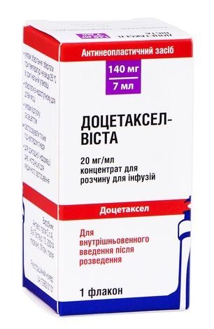 Доцетаксел Віста концентрат для інфузій 140 мг 7 мл 1 флакон