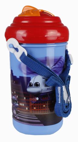 Canpol Babies Бідончик з малюнком і трубочкою пластиковий на ланцюжку 4/102 1 шт