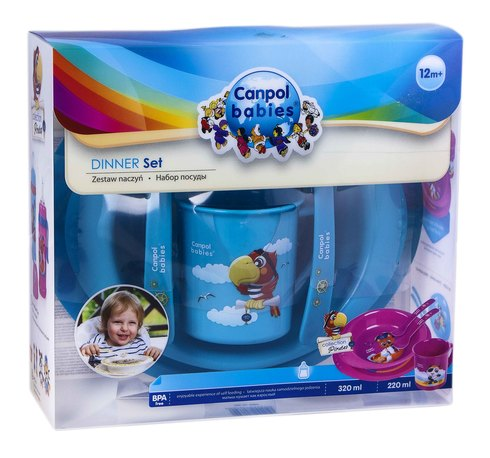 Canpol Babies Набір посуду пластиковий з 12 місяців (4/405) 1 шт