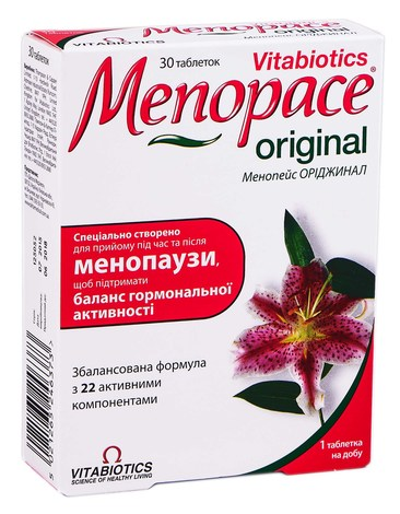 Менопейс Оріджинал таблетки 30 шт