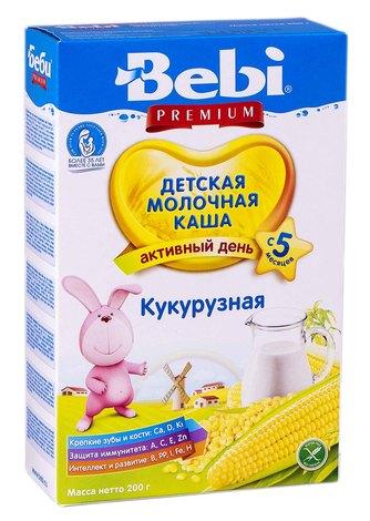 Bebi Premium Каша молочна кукурудзяна з 5 місяців 200 г 1 коробка