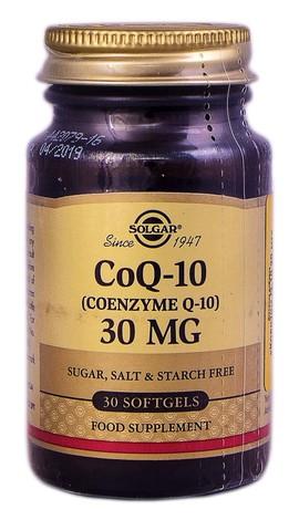 Solgar Коензим Q-10 капсули 30 мг 30 шт