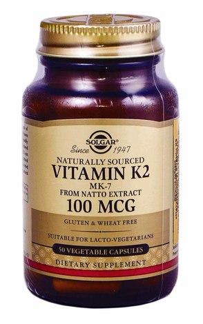 Solgar Натуральний вітамін К2 капсули 100 мкг 50 шт