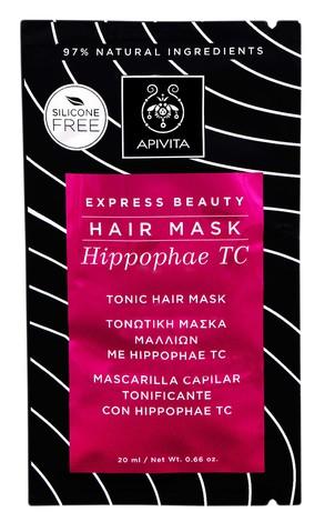 Apivita Express Beauty Маска для волосся Тонік з комплексом на основі обліпихи 20 мл 1 пакет