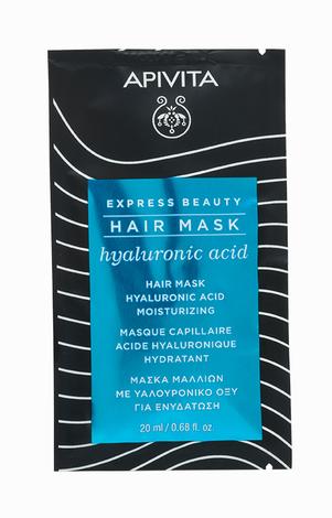 Apivita Express Beauty Маска для волосся Зволоження з гіалуроновою кислотою 20 мл 1 пакет