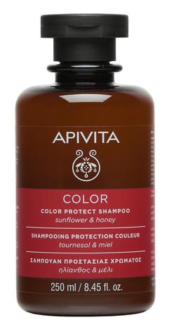 Apivita Шампунь Захист кольору з соняшником та медом 250 мл 1 флакон