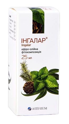 Інгалар ефіро-олійна фітокомпозиція 25 мл 1 флакон