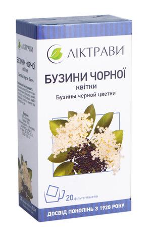Бузини чорної квітки Ліктрави 1,5 г 20 фільтр-пакетів