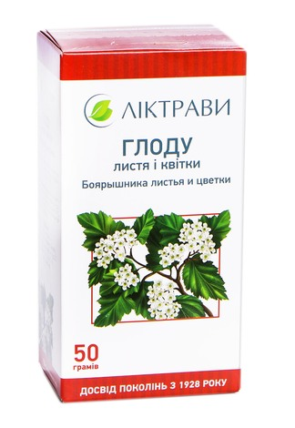 Ліктрави Глоду листя і квітки 50 г 1 пачка