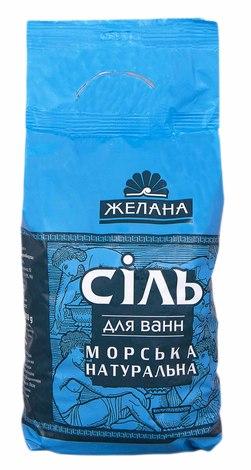 Желана Сіль для ван морська натуральна 1 кг 1 пакет