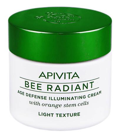 Apivita Bee Radiant Крем сяяння та захист від передчасного старіння шкіри з легкою текстурою 50 мл 1 банка
