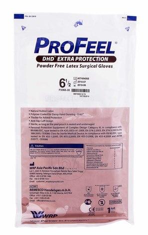 ProFeel DHD Extra Protection Рукавички хірургічні латексні стерильні неприпудрені розмір 6,5 1 пара