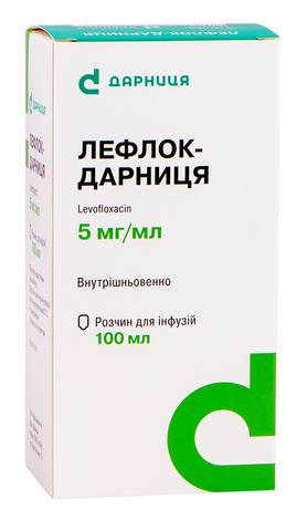 Лефлок Дарниця розчин для інфузій 5 мг/мл 100 мл 1 флакон