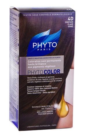 Phyto Phytocolor Крем-фарба 4D русяво-каштановий золотистий 100 мл 1 комплект