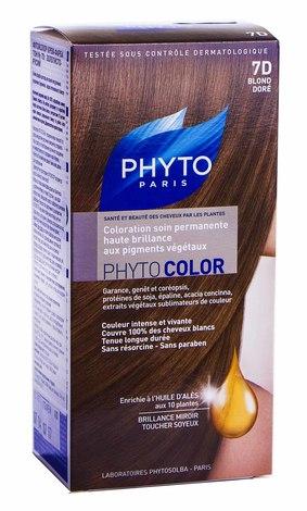 Phyto Phytocolor Крем-фарба 7D золотисто-русий 100 мл 1 комплект