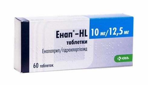 Енап HL таблетки 10 мг/12,5 мг  60 шт
