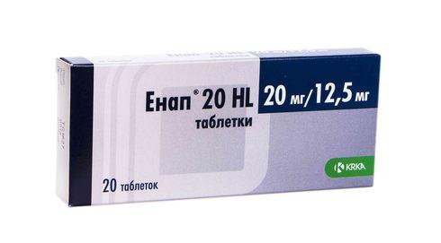 Енап 20 HL таблетки 20 мг/12,5 мг  20 шт