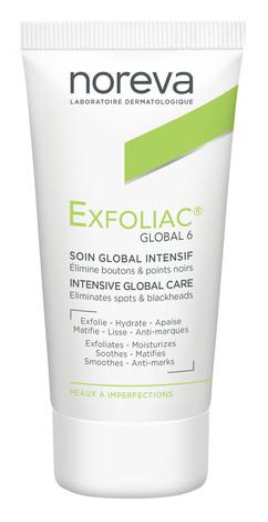 Noreva Exfoliac Global 6 Інтенсивний глобальний догляд за проблемною шкірою 30 мл 1 туба