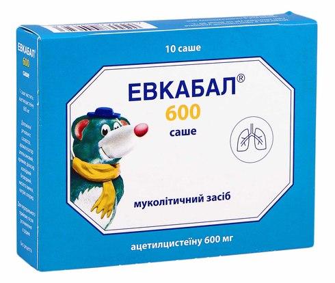 Евкабал порошок для орального розчину 600 мг 10 саше