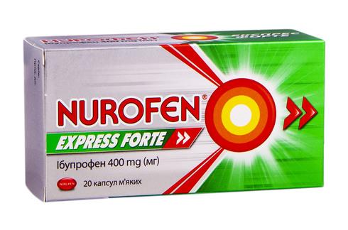 Нурофєн Експрес Форте капсули 400 мг 20 шт