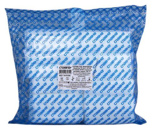 Славна 1610180 Серветка марлева стерильна 12 шарів 10х10 см 100 шт