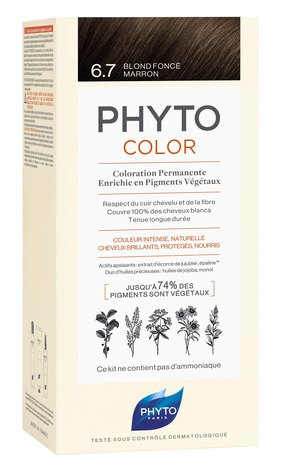 Phyto Color Крем-фарба тон №6.7 темно-русий каштановий 1 комплект