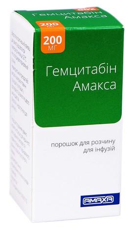 Гемцитабін Амакса порошок для інфузій 200 мг 1 шт