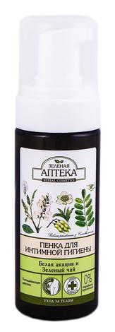 Зелена Аптека Пінка для інтимної гігієни біла акація та зелений чай 150 мл 1 флакон