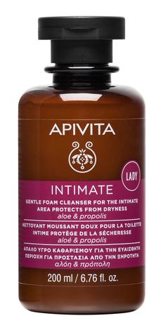 Apivita Intimate Пінка для інтимної гігієни Захист від сухості з алоє і прополісом 200 мл 1 флакон