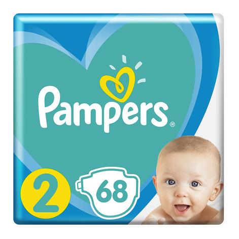 Pampers New Baby-Dry 2 Mini Підгузки дитячі 4-8 кг 68 шт
