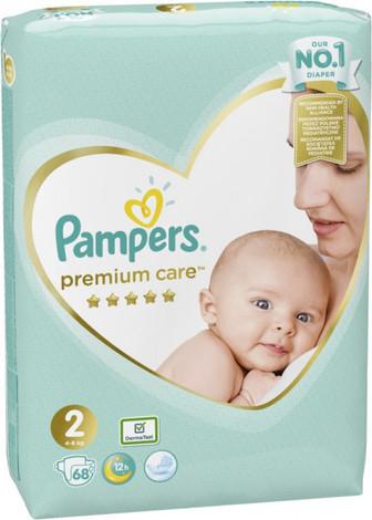 Pampers Premium Care 2 Mini Підгузки дитячі 3-6 кг 68 шт