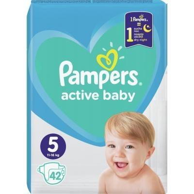 Pampers Active Baby-Dry 5 Junior Підгузки дитячі 11-16 кг 42 шт