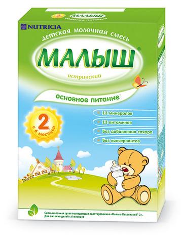 Малиш Істринський 2 Молочна суміш з 6 місяців 320 г 1 коробка