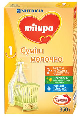 Milupa 1 Молочна суміш від 0 до 6 місяців 350 г 1 коробка
