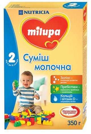 Milupa 2 Молочна суміш 6-12 місяців 350 г 1 коробка