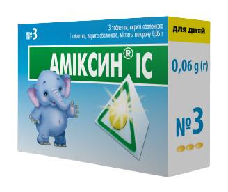 Аміксин IC таблетки 0,06 г 3 шт