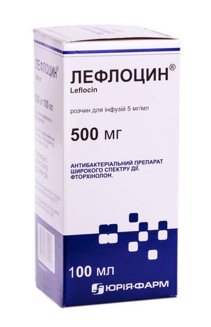 Лефлоцин розчин для інфузій 5 мг/мл 100 мл 1 флакон