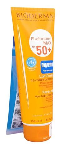 Bioderma Photoderm Max молочко SPF 50+ 250 мл + Atoderm гель для душу 200 мл 1 набір