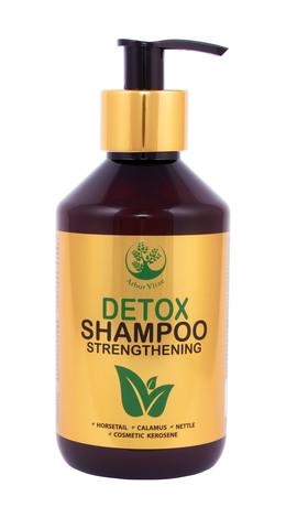 Arbor Vitae Detox Шампунь для волосся з нафтою косметичною та додаванням екстрактів кропиви, хвощу і каламусу 300 мл 1 флакон