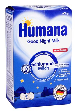 Humana Суміш суха молочна Солодкі сни з Омега-3 Омега-6 та жирними кислотами 600 г 1 коробка