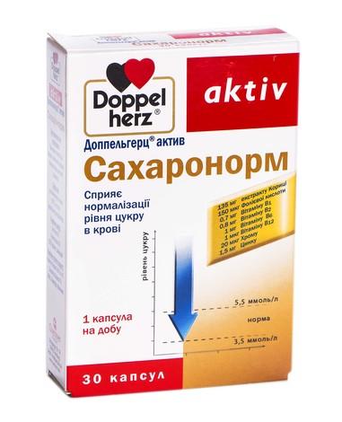 Doppel herz aktiv Сахаронорм капсули 30 шт