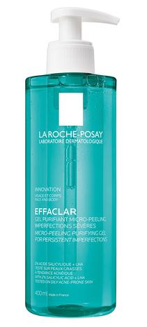 La Roche-Posay Effaclar Гель-мікропілінг для очищення проблемної шкіри для зменшення стійких недоліків 400 мл 1 туба