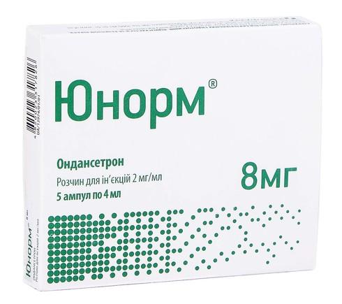 Юнорм розчин для ін'єкцій 2 мг/мл 4 мл 5 ампул