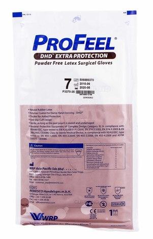 ProFeel DHD Extra Protection Рукавички хірургічні латексні стерильні неприпудрені розмір 7 1 пара