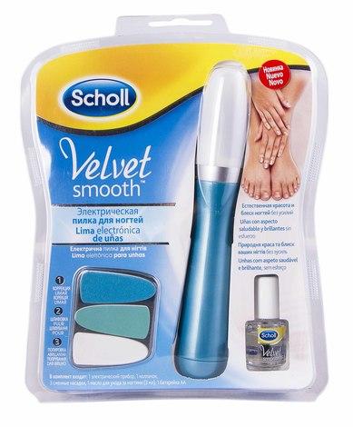 Scholl Набір Електрична пилка для нігтів + 3 змінні насадки + олійка 3 мл + батарейка 1 шт