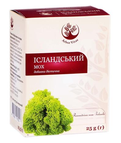 Arbor Vitae Ісландський мох трава 25 г 1 пачка