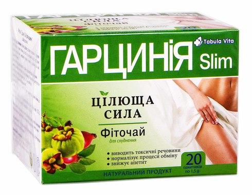 Tabula Vita Цілюща сила Фіточай для схуднення Гарцинія Slim 20 пакетиків