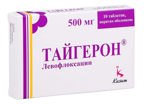 Тайгерон таблетки 500 мг 10 шт